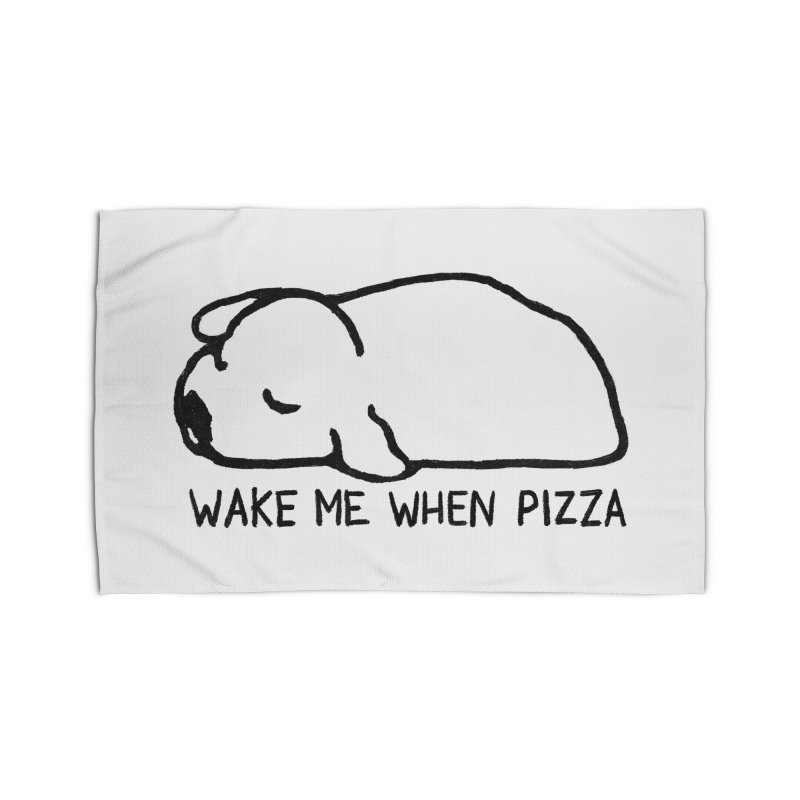 Wake Me When Pizza Home Rug by Fox Shiver's Artist Shop