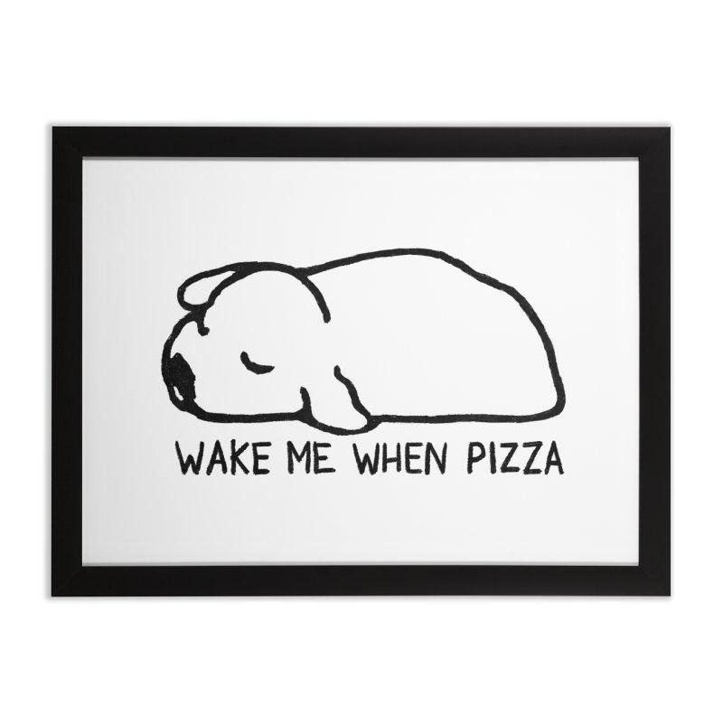 Wake Me When Pizza Home Framed Fine Art Print by Fox Shiver's Artist Shop