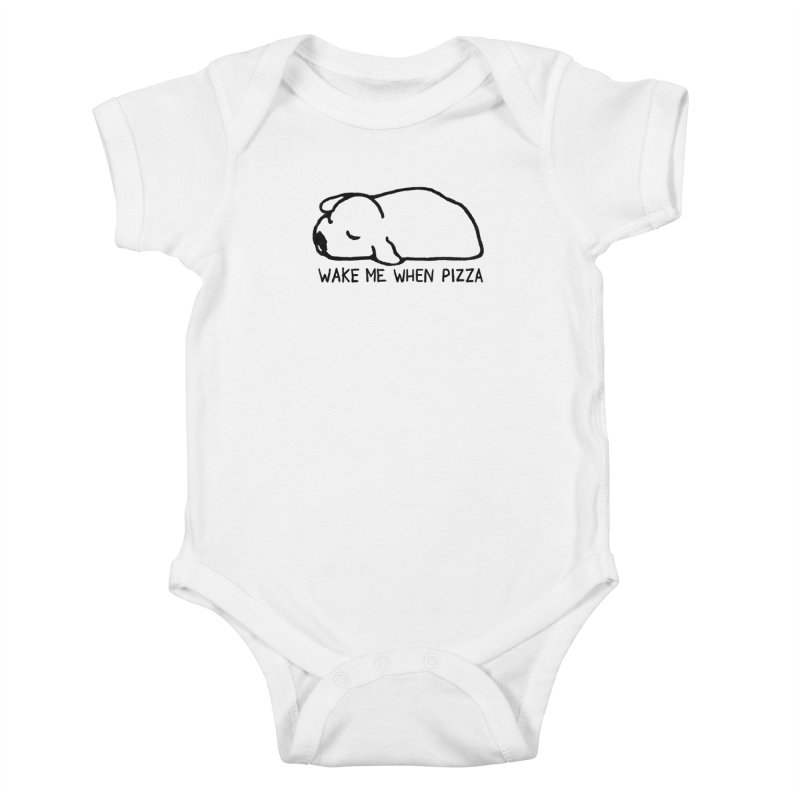 Wake Me When Pizza Kids Baby Bodysuit by Fox Shiver's Artist Shop