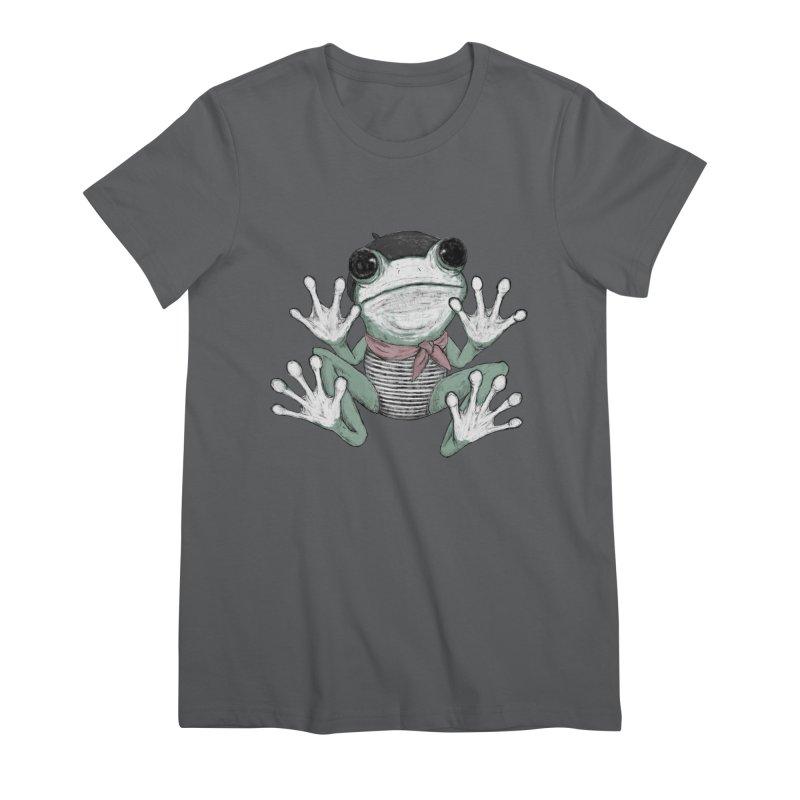 Silent Frog Women's Premium T-Shirt by Fox Shiver's Artist Shop