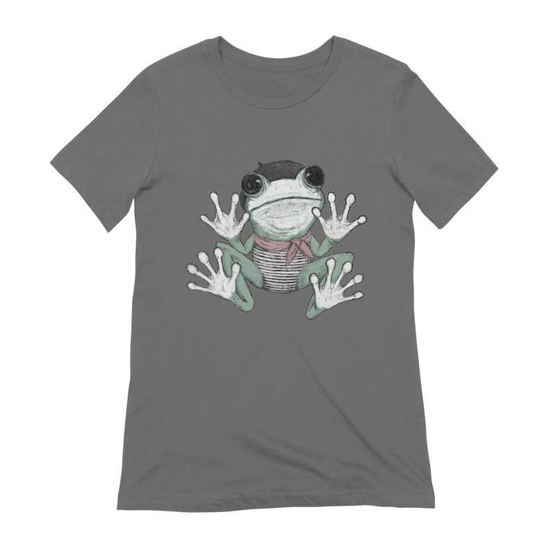 Silent Frog Women's Extra Soft T-Shirt by Fox Shiver's Artist Shop