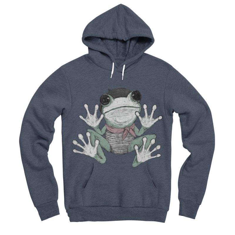 Silent Frog Women's Sponge Fleece Pullover Hoody by Fox Shiver's Artist Shop