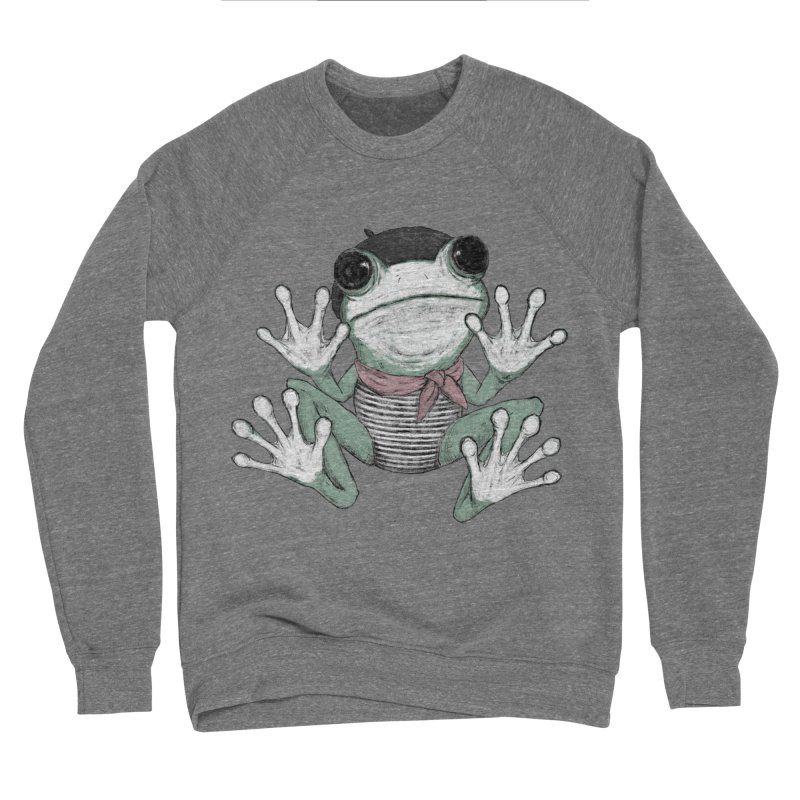 Silent Frog Men's Sponge Fleece Sweatshirt by Fox Shiver's Artist Shop