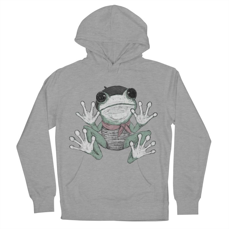 Silent Frog Women's French Terry Pullover Hoody by Fox Shiver's Artist Shop