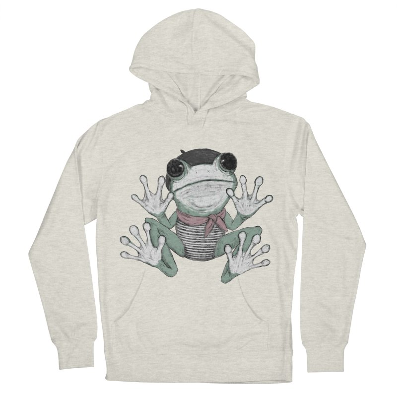Silent Frog Men's French Terry Pullover Hoody by Fox Shiver's Artist Shop