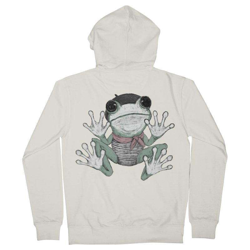 Silent Frog Men's French Terry Zip-Up Hoody by Fox Shiver's Artist Shop