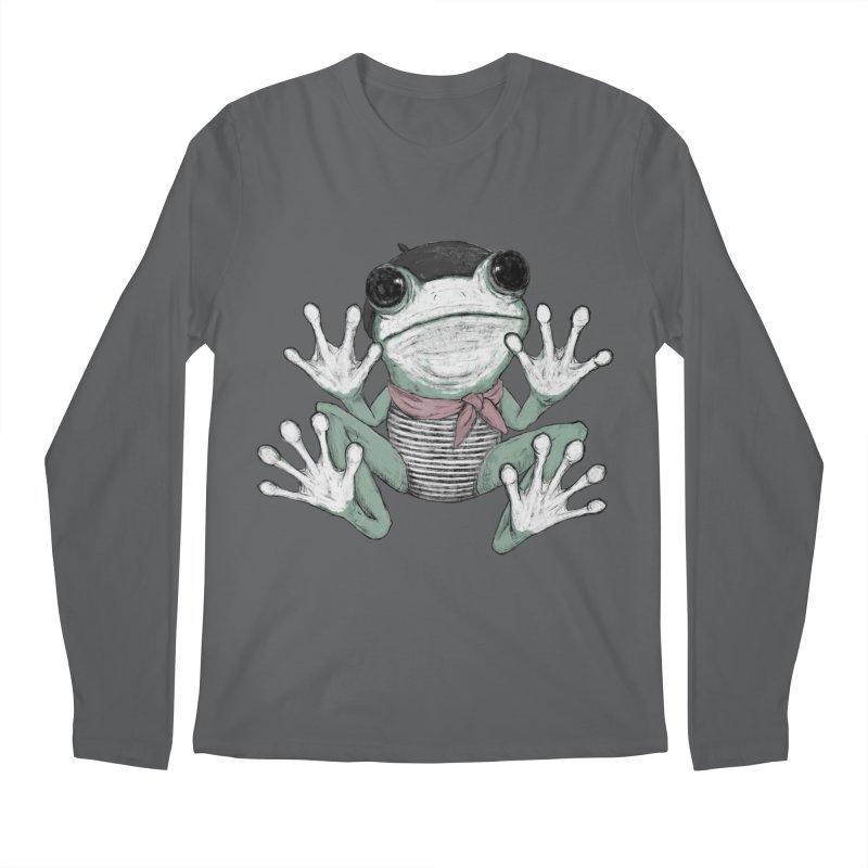 Silent Frog Men's Regular Longsleeve T-Shirt by Fox Shiver's Artist Shop