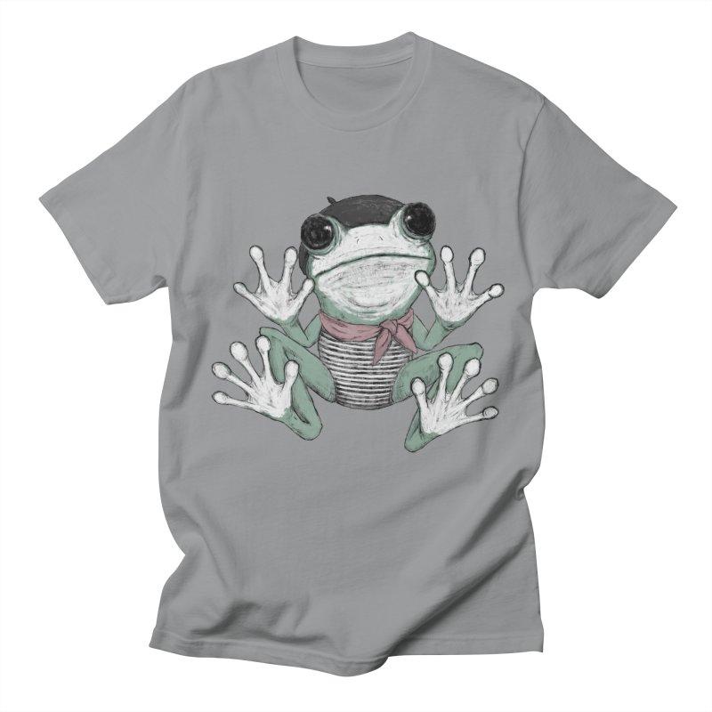 Silent Frog Men's Regular T-Shirt by Fox Shiver's Artist Shop