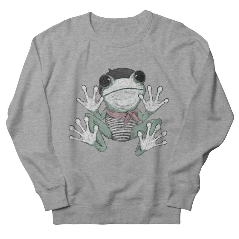 Silent Frog Women's French Terry Sweatshirt by Fox Shiver's Artist Shop