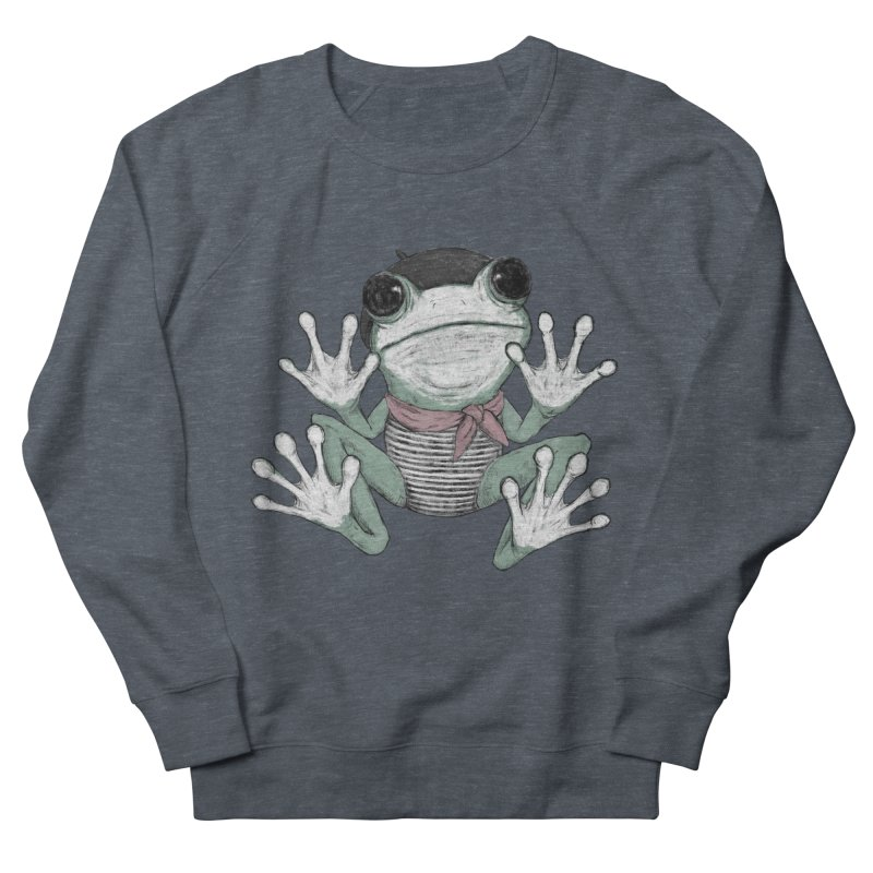 Silent Frog Men's French Terry Sweatshirt by Fox Shiver's Artist Shop