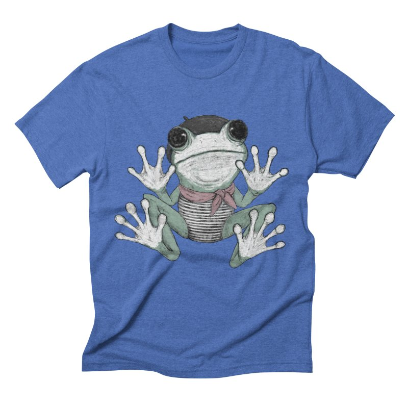Silent Frog Men's Triblend T-Shirt by Fox Shiver's Artist Shop