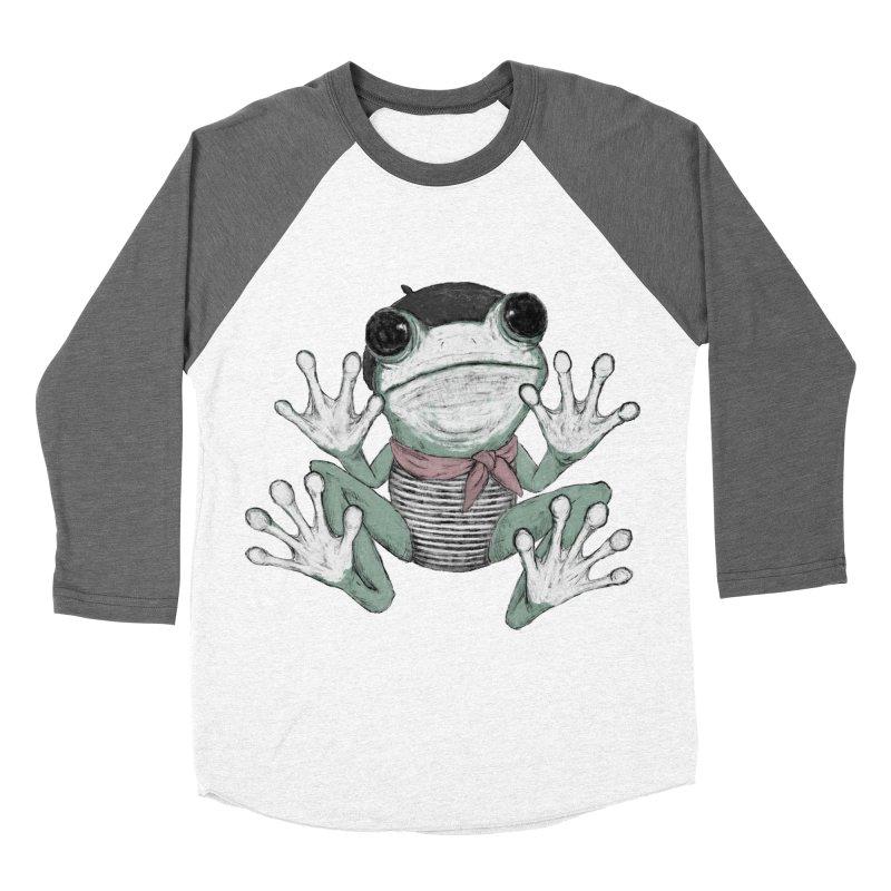 Silent Frog Women's Baseball Triblend Longsleeve T-Shirt by Fox Shiver's Artist Shop