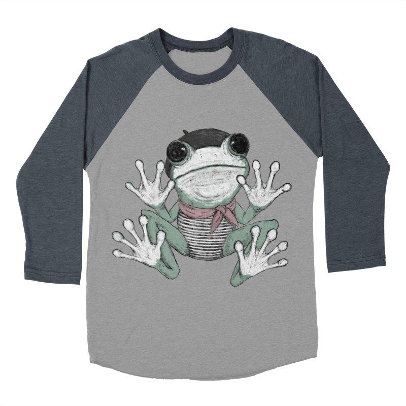 Silent Frog Men's Baseball Triblend Longsleeve T-Shirt by Fox Shiver's Artist Shop
