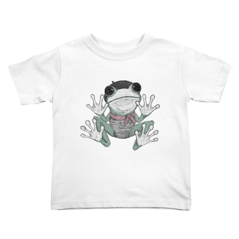Silent Frog Kids Toddler T-Shirt by Fox Shiver's Artist Shop
