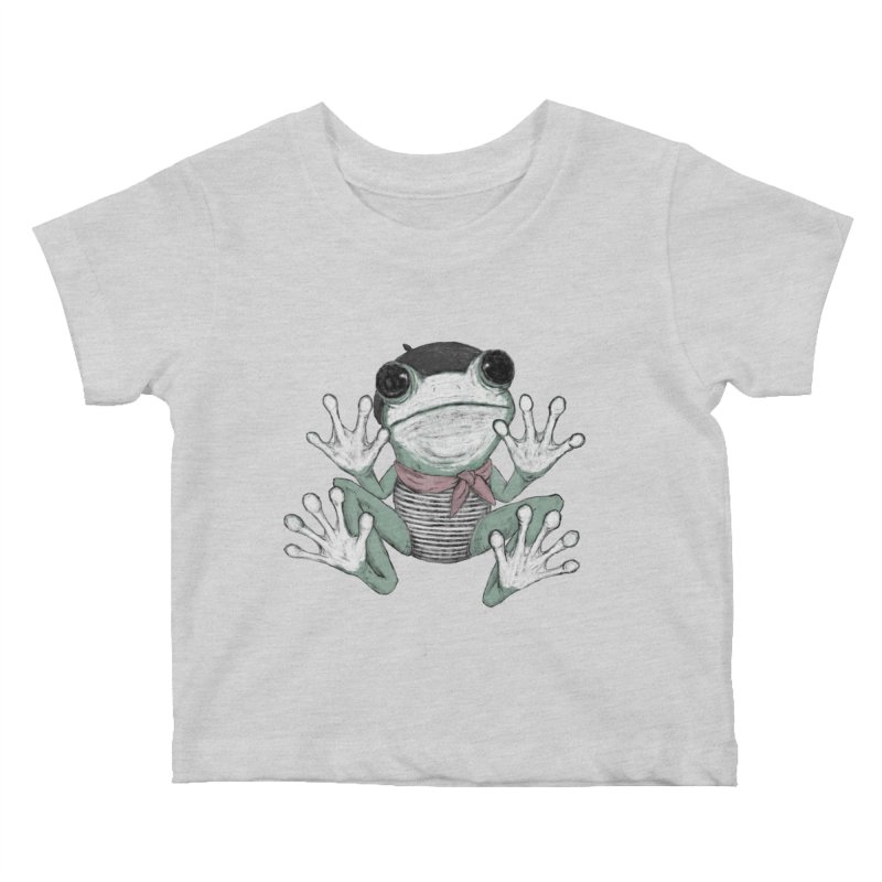 Silent Frog Kids Baby T-Shirt by Fox Shiver's Artist Shop