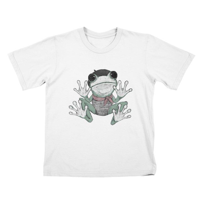 Silent Frog Kids T-Shirt by Fox Shiver's Artist Shop