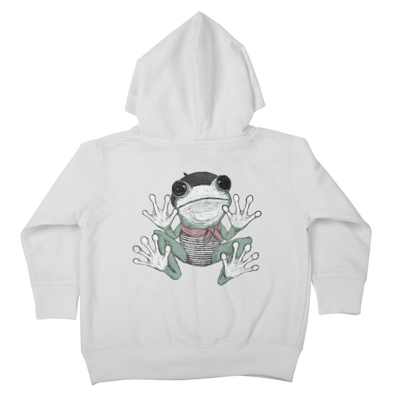 Silent Frog Kids Toddler Zip-Up Hoody by Fox Shiver's Artist Shop