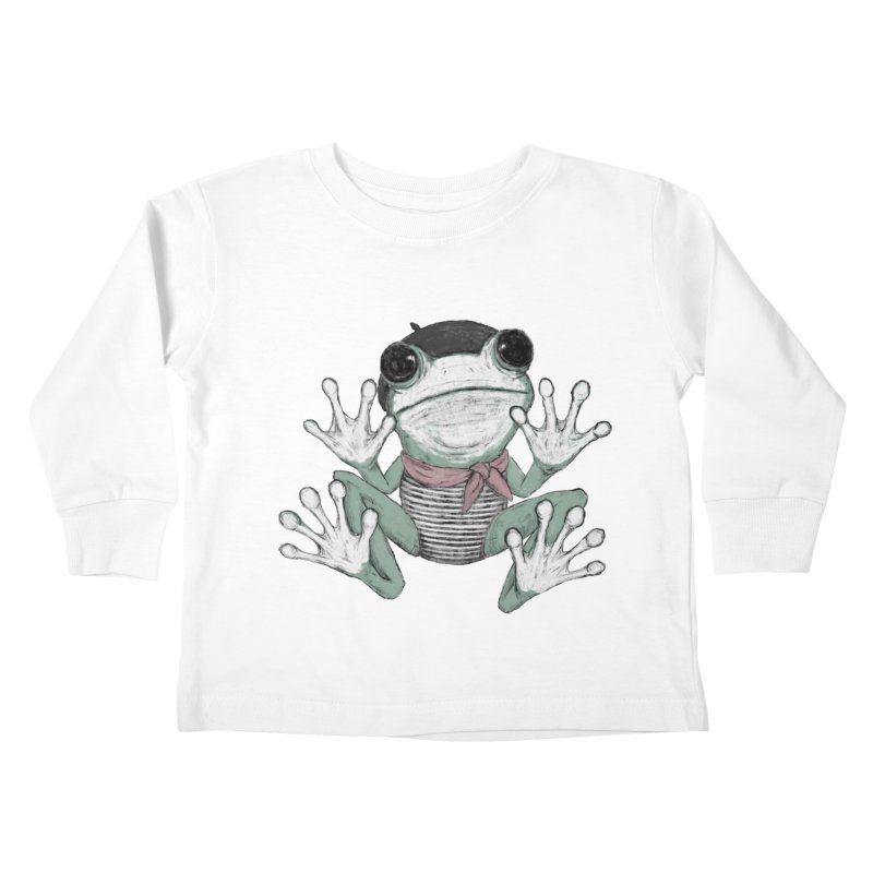 Silent Frog Kids Toddler Longsleeve T-Shirt by Fox Shiver's Artist Shop