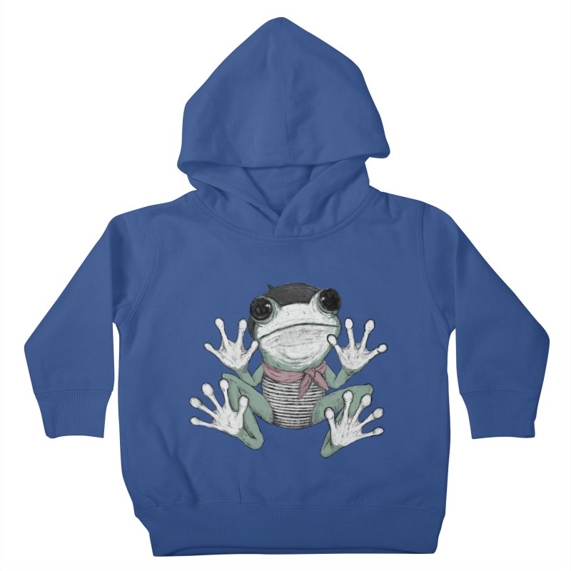Silent Frog Kids Toddler Pullover Hoody by Fox Shiver's Artist Shop