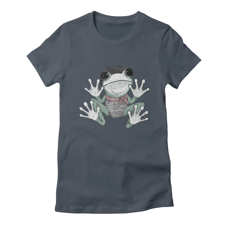 Silent Frog Women's Fitted T-Shirt by Fox Shiver's Artist Shop