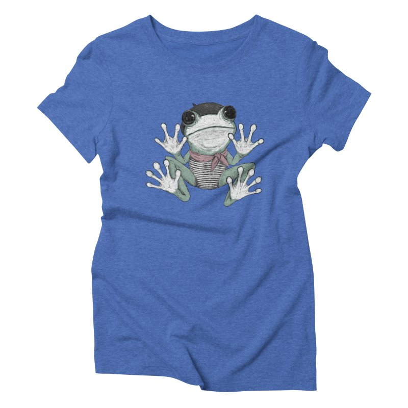 Silent Frog Women's Triblend T-Shirt by Fox Shiver's Artist Shop
