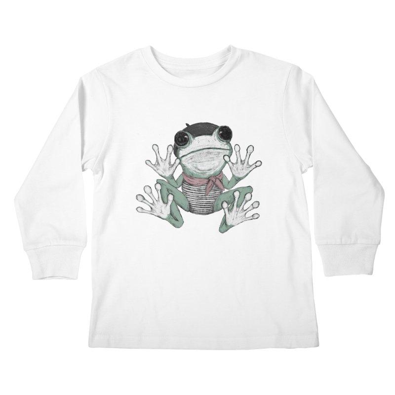 Silent Frog Kids Longsleeve T-Shirt by Fox Shiver's Artist Shop