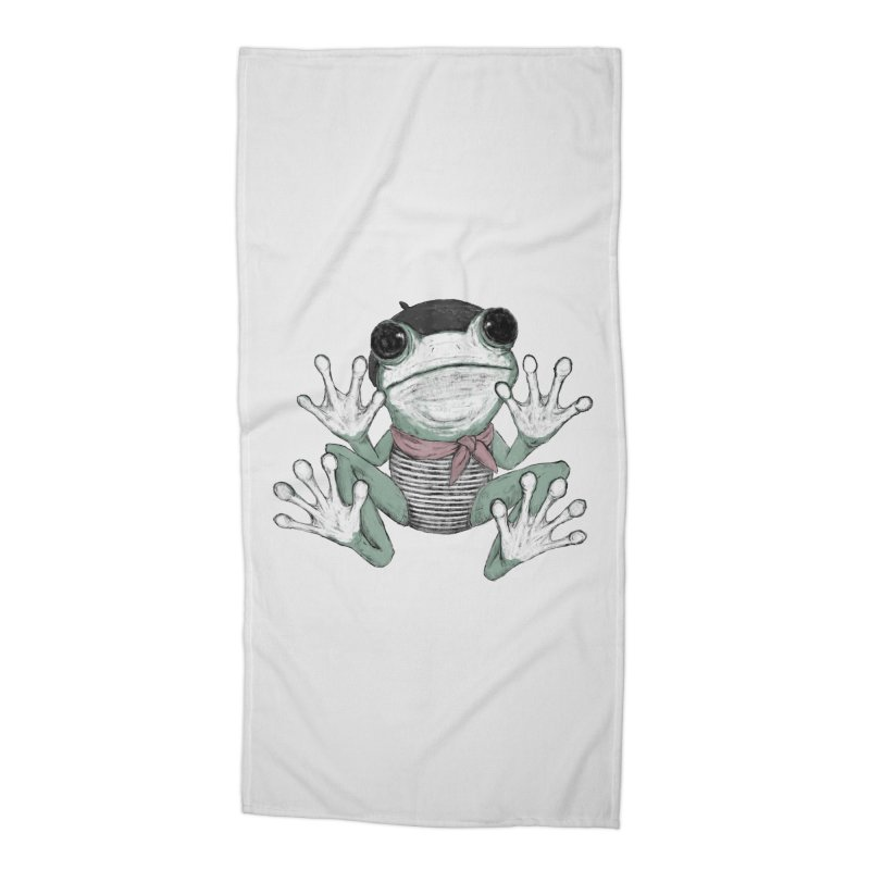 Silent Frog Accessories Beach Towel by Fox Shiver's Artist Shop