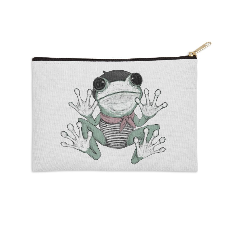 Silent Frog Accessories Zip Pouch by Fox Shiver's Artist Shop