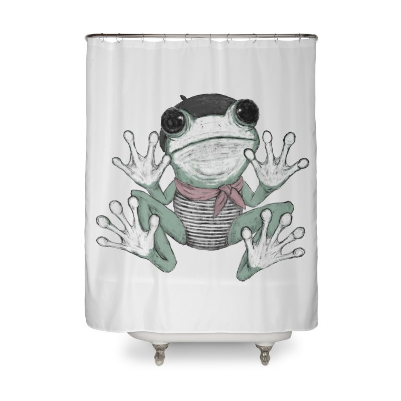 Silent Frog Home Shower Curtain by Fox Shiver's Artist Shop