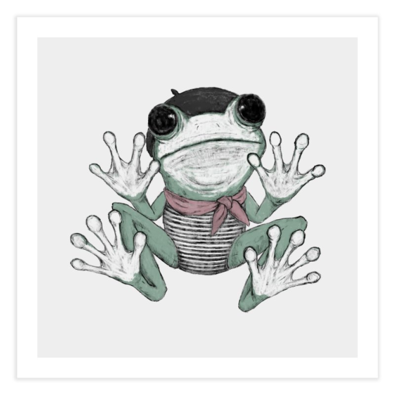 Silent Frog Home Fine Art Print by Fox Shiver's Artist Shop