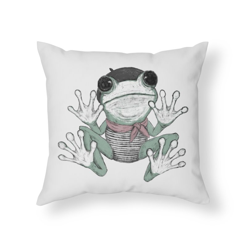 Silent Frog Home Throw Pillow by Fox Shiver's Artist Shop