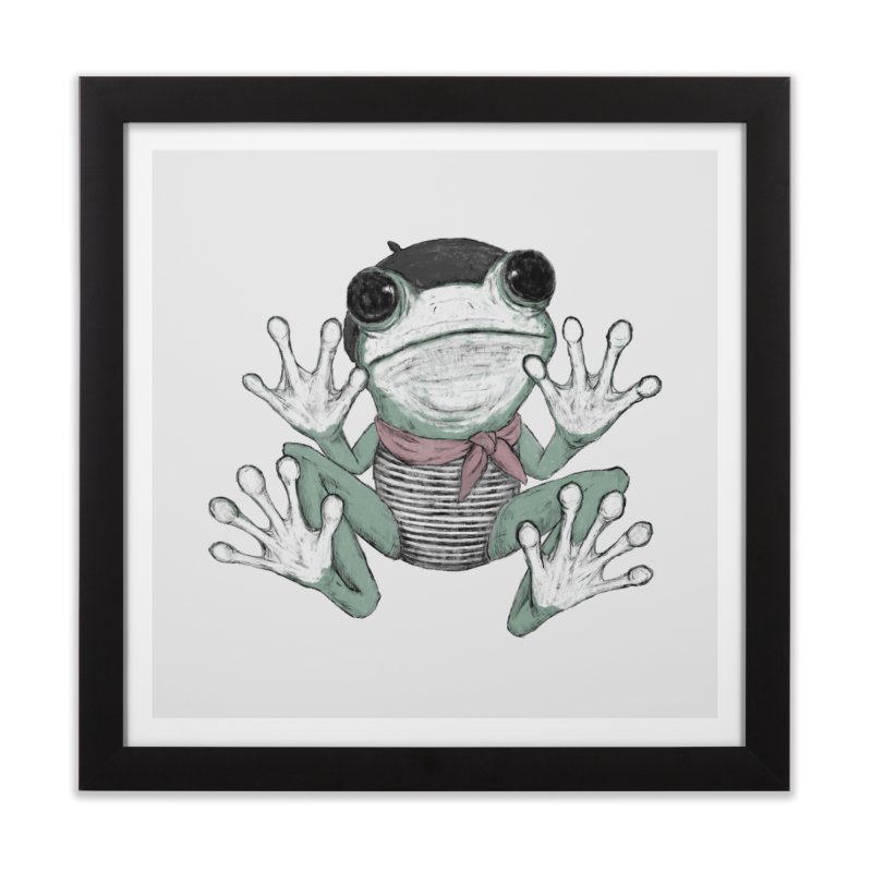 Silent Frog Home Framed Fine Art Print by Fox Shiver's Artist Shop