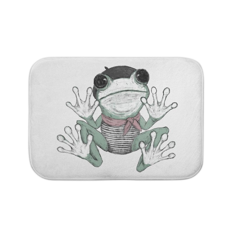Silent Frog Home Bath Mat by Fox Shiver's Artist Shop