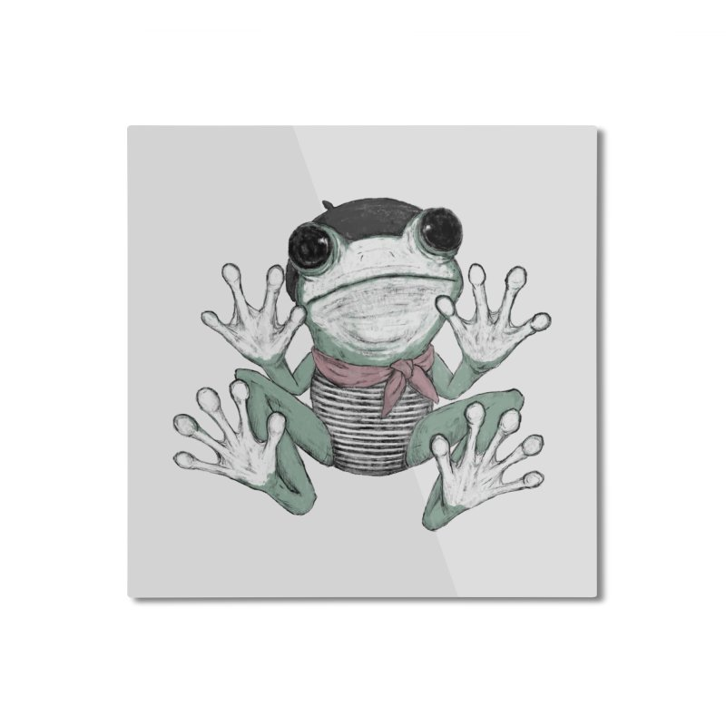 Silent Frog Home Mounted Aluminum Print by Fox Shiver's Artist Shop