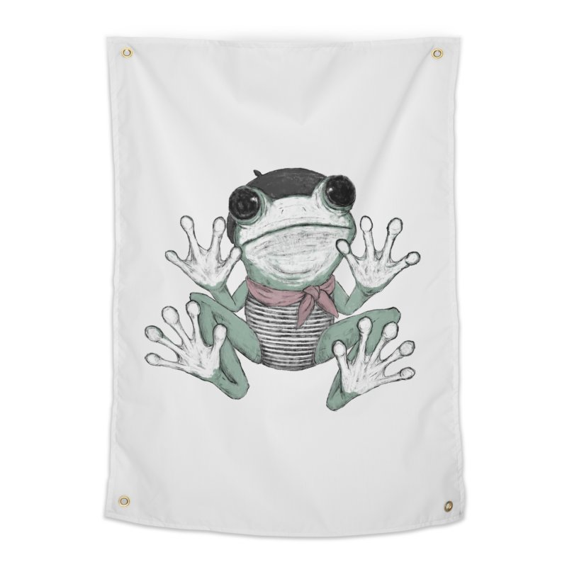 Silent Frog Home Tapestry by Fox Shiver's Artist Shop