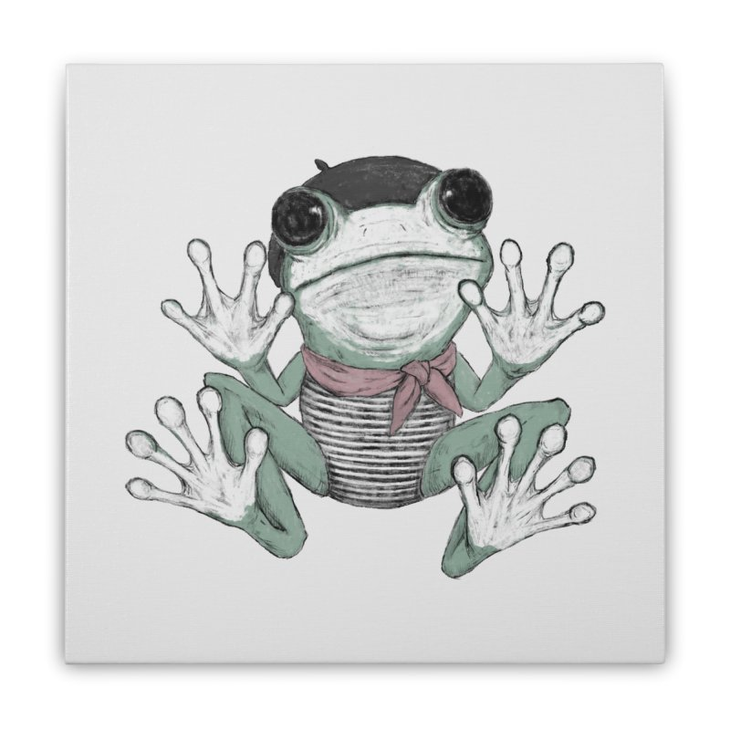 Silent Frog Home Stretched Canvas by Fox Shiver's Artist Shop