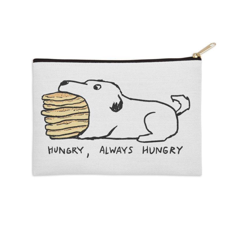 Hungry, Always Hungry Accessories Zip Pouch by Fox Shiver's Artist Shop