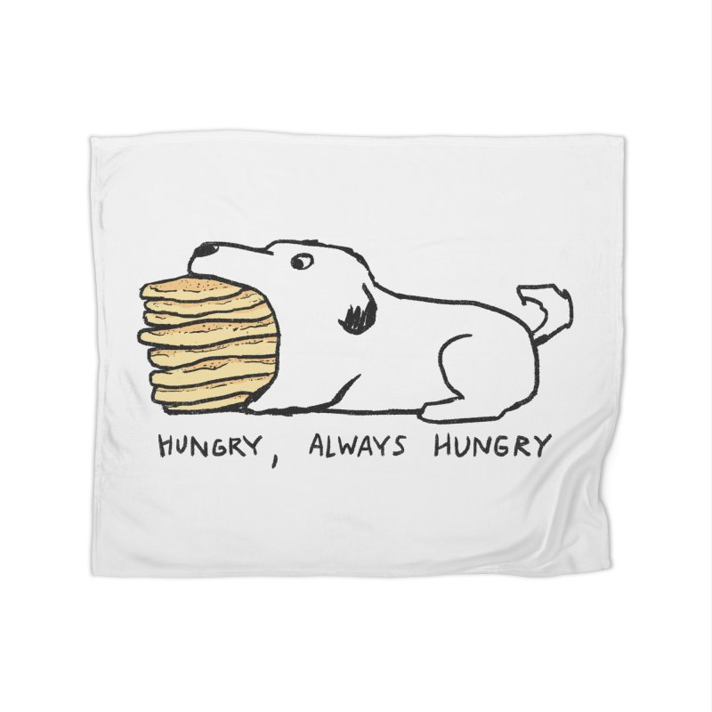 Hungry, Always Hungry Home Fleece Blanket Blanket by Fox Shiver's Artist Shop