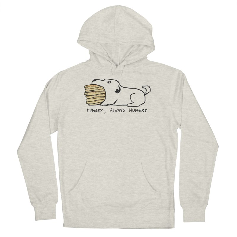 Hungry, Always Hungry Men's French Terry Pullover Hoody by Fox Shiver's Artist Shop