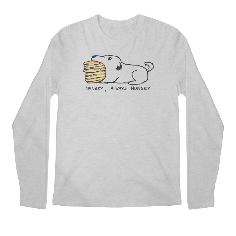 Hungry, Always Hungry Men's Regular Longsleeve T-Shirt by Fox Shiver's Artist Shop