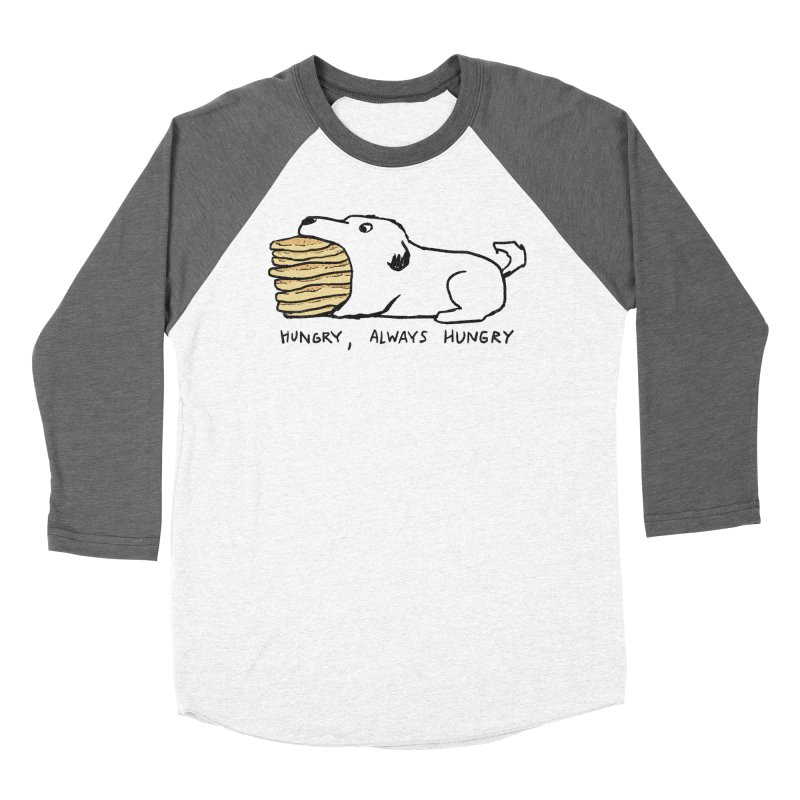 Hungry, Always Hungry Men's Baseball Triblend Longsleeve T-Shirt by Fox Shiver's Artist Shop