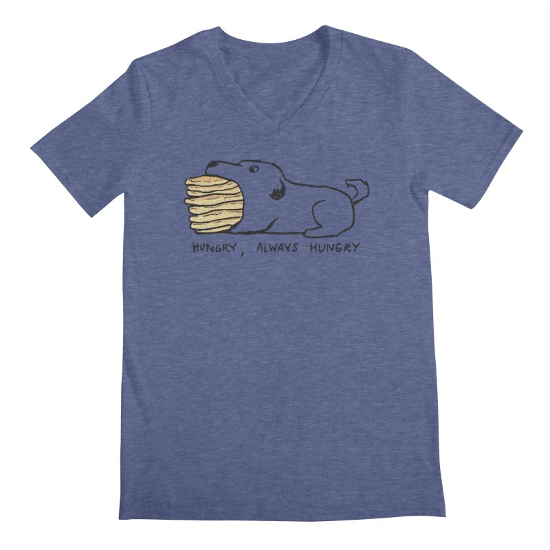 Hungry, Always Hungry Men's Regular V-Neck by Fox Shiver's Artist Shop