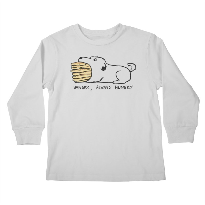 Hungry, Always Hungry Kids Longsleeve T-Shirt by Fox Shiver's Artist Shop