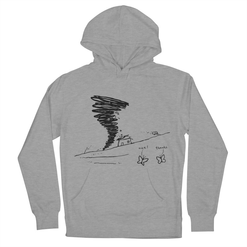 Look What I Did Men's French Terry Pullover Hoody by Fox Shiver's Artist Shop