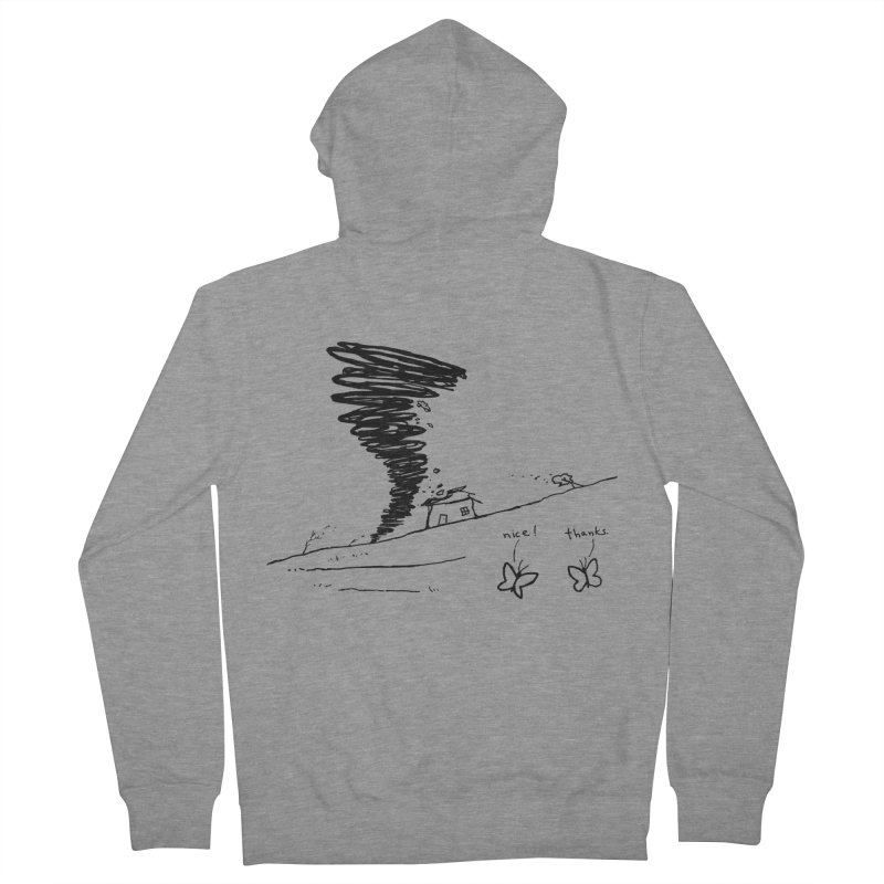 Look What I Did Men's French Terry Zip-Up Hoody by Fox Shiver's Artist Shop
