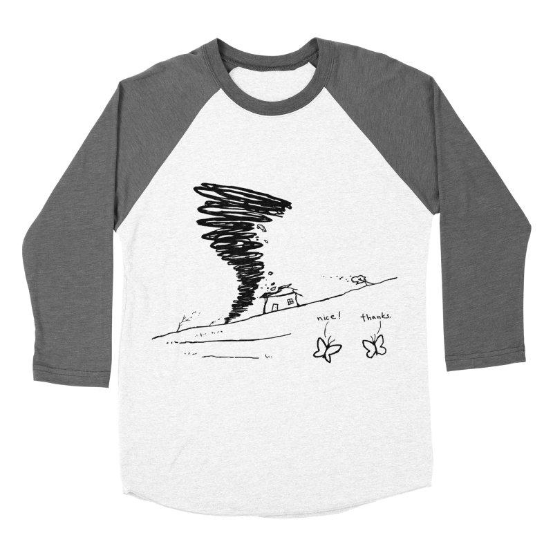 Look What I Did Men's Baseball Triblend Longsleeve T-Shirt by Fox Shiver's Artist Shop