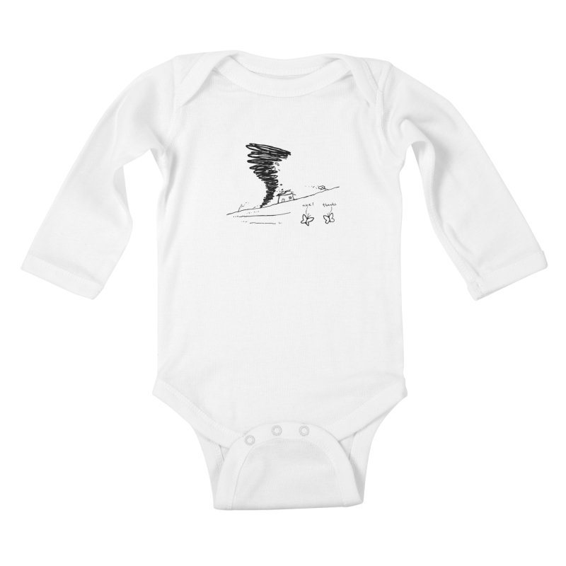 Look What I Did Kids Baby Longsleeve Bodysuit by Fox Shiver's Artist Shop