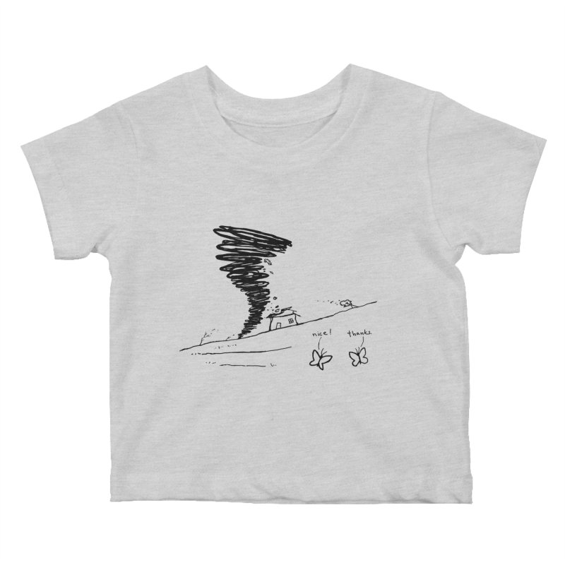 Look What I Did Kids Baby T-Shirt by Fox Shiver's Artist Shop