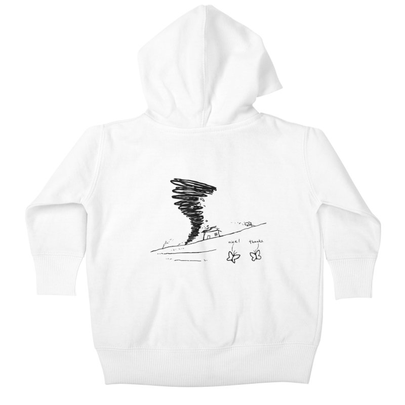 Look What I Did Kids Baby Zip-Up Hoody by Fox Shiver's Artist Shop