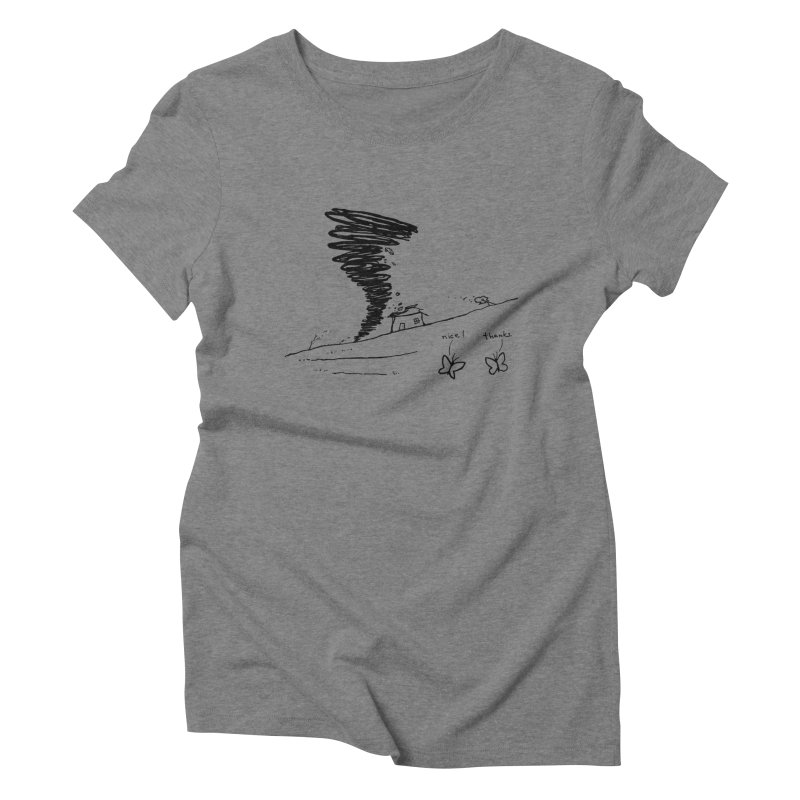 Look What I Did Women's Triblend T-Shirt by Fox Shiver's Artist Shop